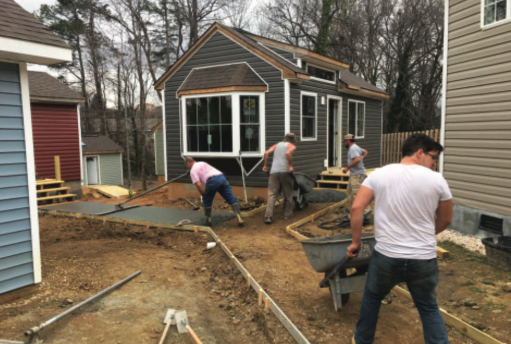 Tiny house workday with HPU's Circle K organization - Campus